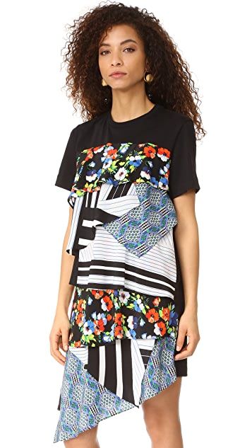 MSGM Mixed Print Dress
