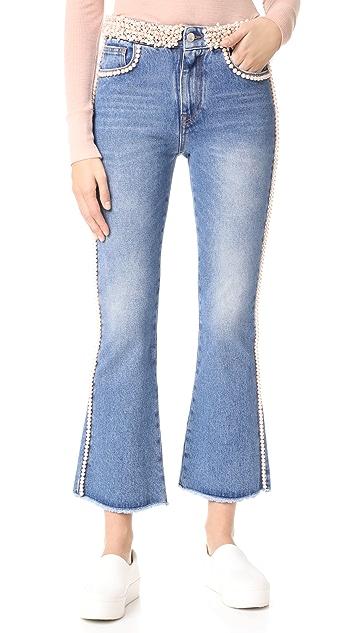MSGM Imitation Pearl Jeans