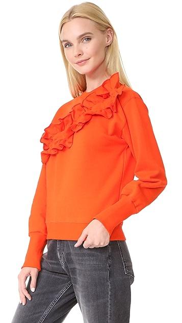 MSGM Diagonal Ruffle Sweatshirt