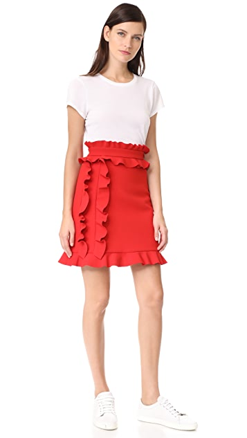 MSGM Side Ruffle Skirt