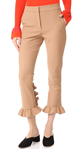 MSGM Slim Ruffle Pants