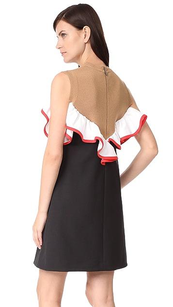 MSGM Ruffle Yoke Dress