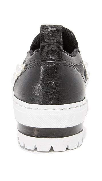 MSGM Wedge Slip On Sneakers
