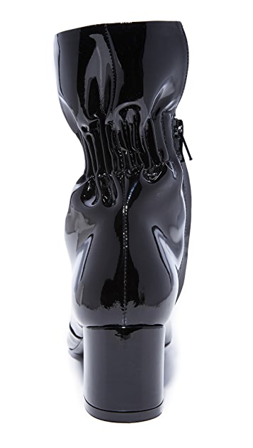 MSGM Ruffle Ankle Booties