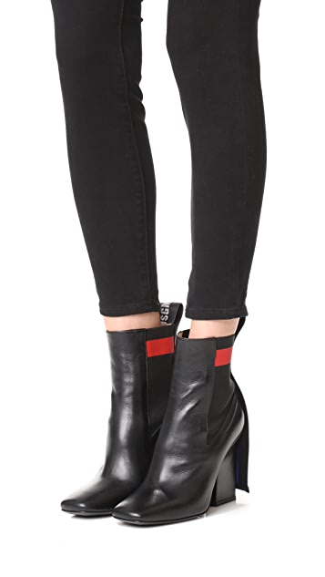 MSGM Striped Band Chelsea Boots