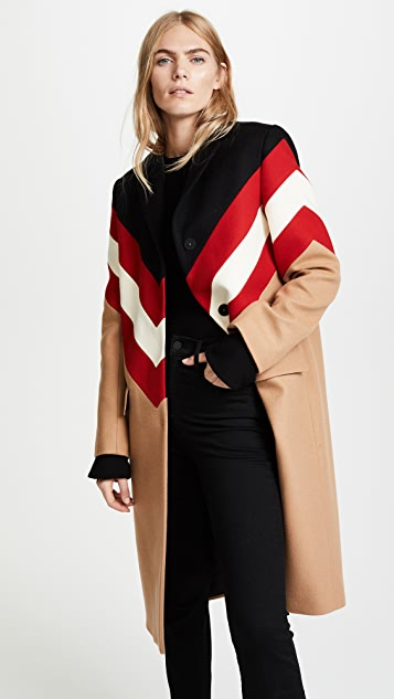 MSGM Wool Chevron Coat