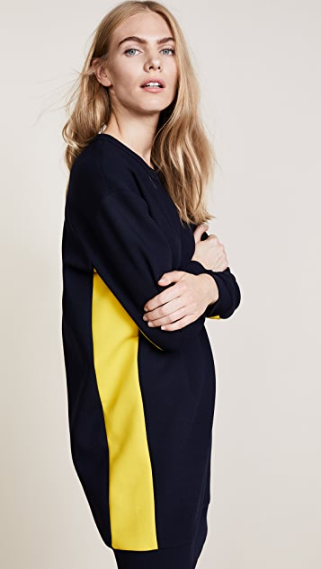 MSGM Colorblocked Cady Dress