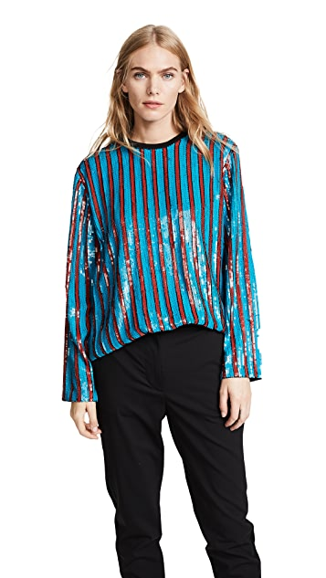 MSGM Sequin Top
