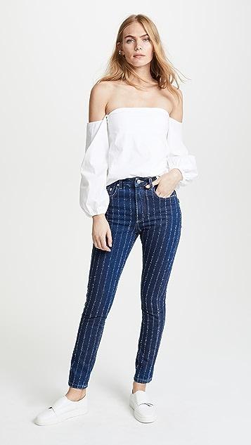 MSGM Pinstripe Jeans