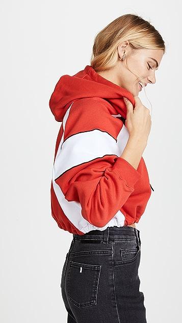 MSGM Cropped MSGM Cotton Hoodie