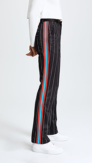 MSGM Pinstripe Track Trousers