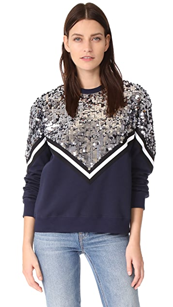 MSGM Sequin Chevron Sweatshirt