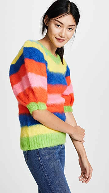 MSGM Stripe Mohair Sweater
