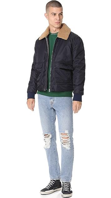 MSGM Sherpa Collar Flight Jacket