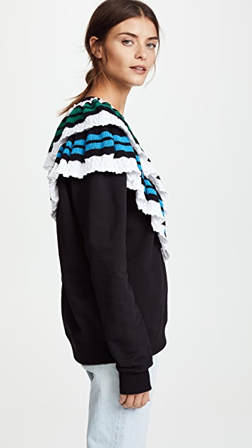 MSGM Sweatshirt with Crochet Detail