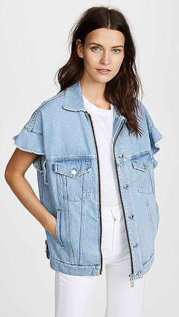 MSGM Cap Sleeve Denim Jacket