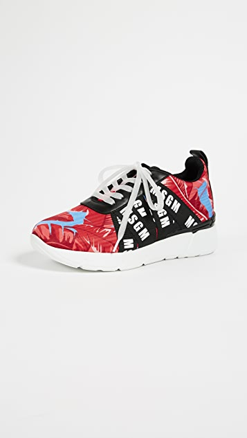 MSGM  Multi Strap Runner Sneakers