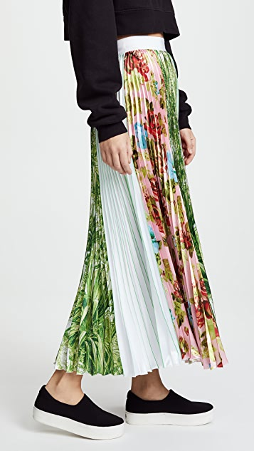 MSGM Multi Pleated Skirt