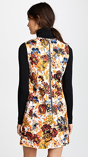 MSGM Floral Shift Dress