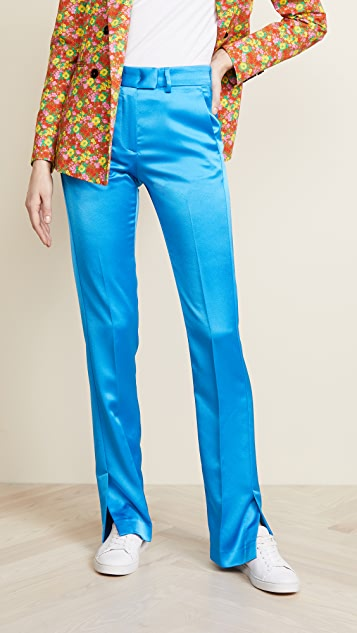 MSGM Silk Pants with Slits