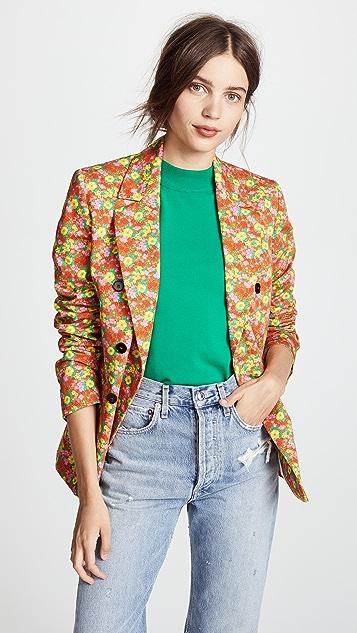 MSGM Floral Blazer