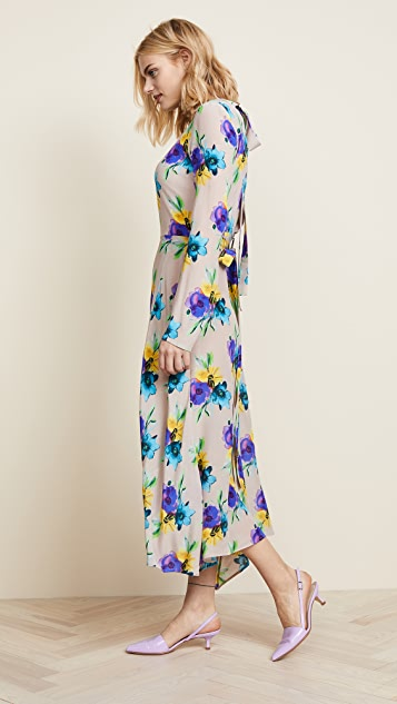 MSGM Silk Printed Dress
