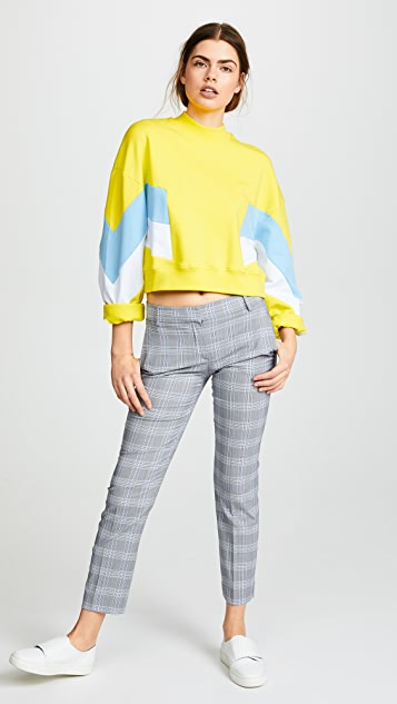 MSGM Mock Neck Sweatshirt