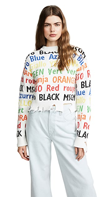 MSGM Cropped Sweater
