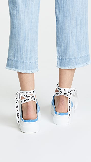 MSGM Two Tone Drip Mule Sneakers