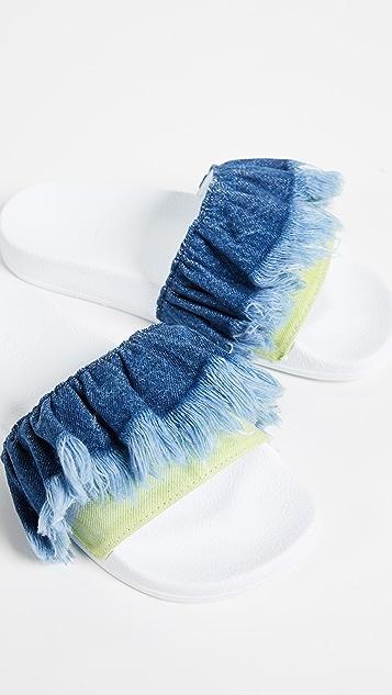 MSGM Tie Dye Pool Slides