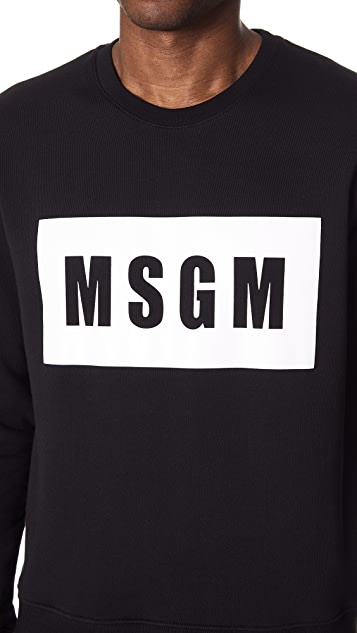 MSGM Logo Crew Neck Sweatshirt