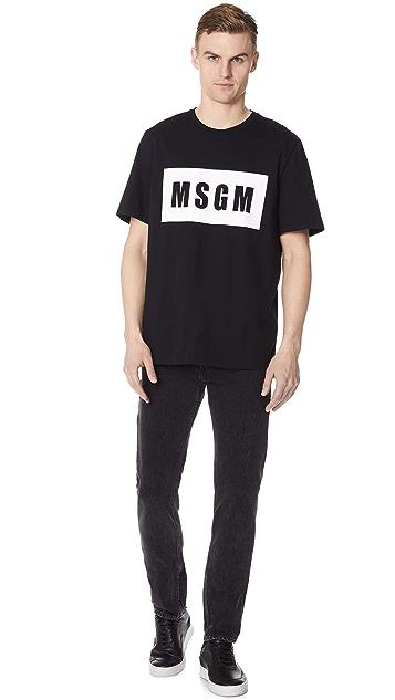 MSGM Logo Short Sleeve Tee
