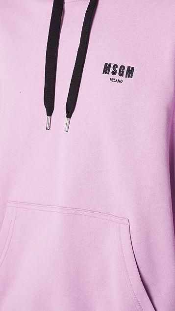 MSGM Chest Logo Hoodie