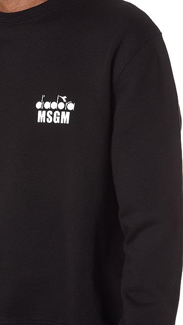 MSGM Diadora Tennis Logo Sweatshirt