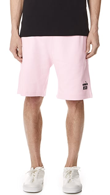 MSGM x Diadora Tennis Logo Sweat Shorts