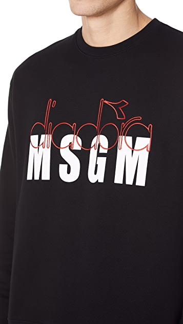 MSGM Diadora Logo Sweatshirt