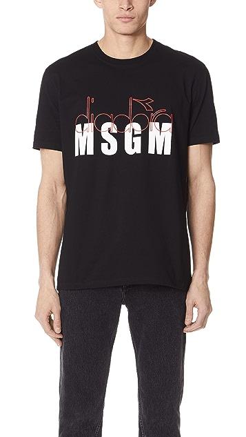 MSGM x Diadora Logo T-Shirt