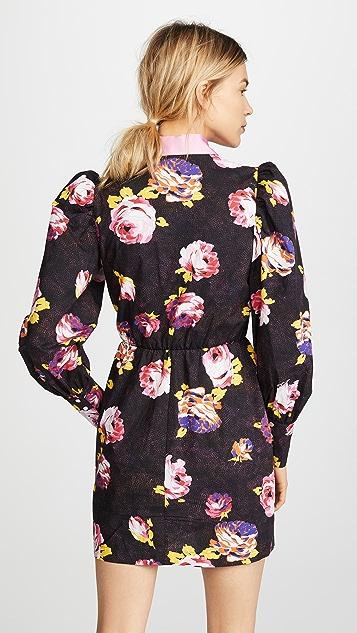 MSGM 灯笼袖衬衣式连衣裙