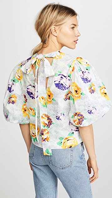 MSGM Balloon Sleeve Top