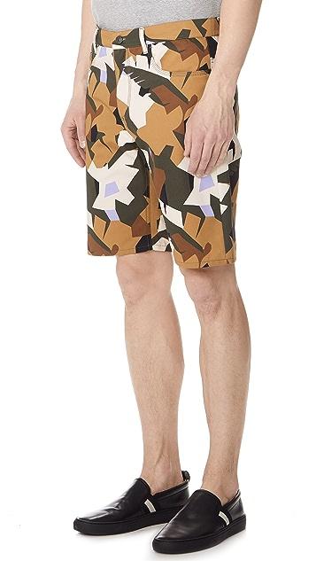 MSGM Camo Shorts