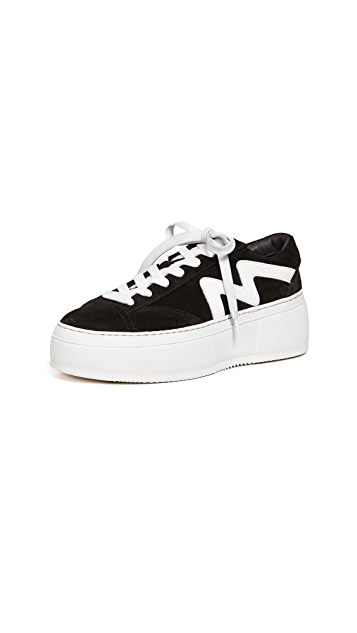MSGM Lace Up Cupsole Sneakers