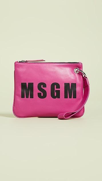 MSGM Leather Wristlet