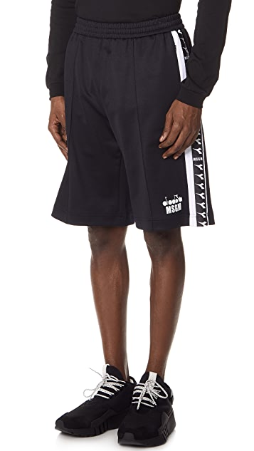 MSGM Diadora Track Shorts