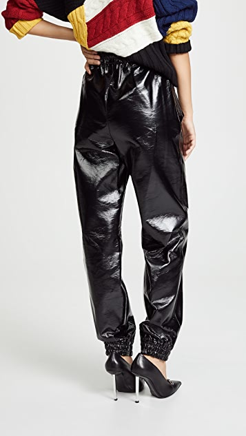 MSGM Faux Leather Joggers