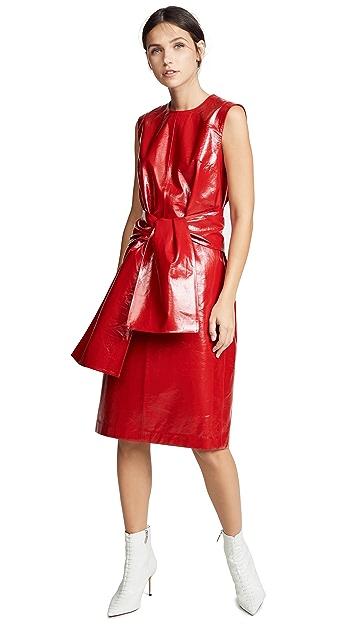 MSGM Faux Leather Dress