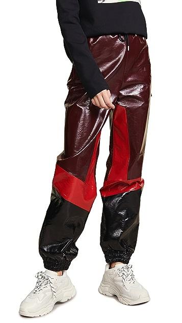 MSGM Тренировочные брюки из искусственной кожи
