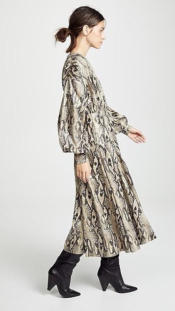 MSGM Платье Skin из искусственной кожи с тиснением под змею