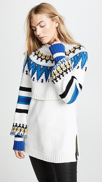 MSGM Fair Isle Sweater