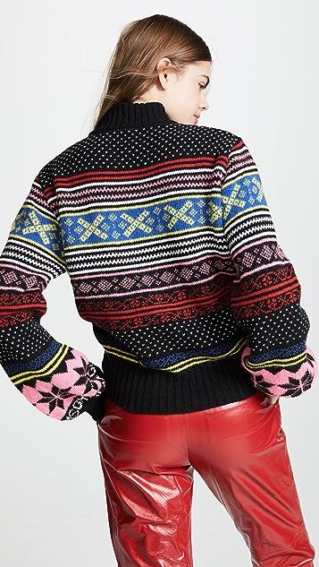 MSGM Fair Isle Crew Neck Sweater