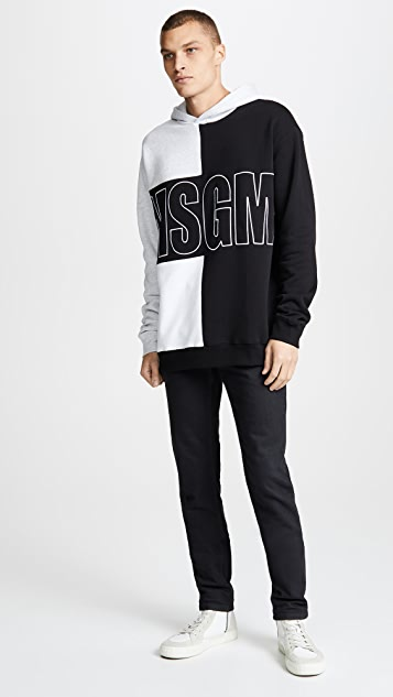 MSGM Block Color Sweatshirt